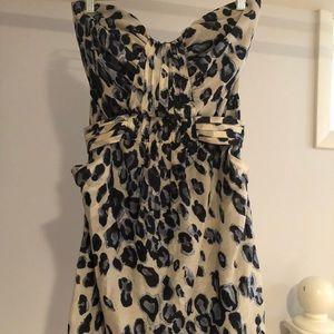 Blue and Black Leopard Dress
